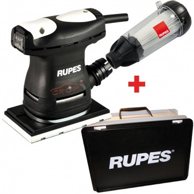 RUPES LE71TC and LE71TEC Mini Flat Sander with Dust Extraction - Plastic Case, 80x130mm