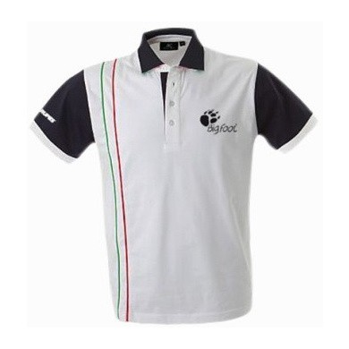 RUPES BigFoot Academy Polo Shirt wit/blauw Italy
