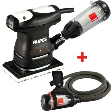 RUPES LE71 /KIT Vlakschuurmachine 80x130mm + Slang, Broekriemhouder & Venturi