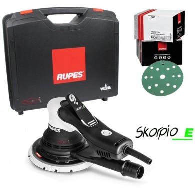 RUPES Skorpio-E 150mm Electric Random Orbital Sander Premium Kit (incl. Case and Sanding Paper)