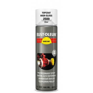 Rust-Oleum 2500 Transparent Topcoat in 500ml Aerosol - Highgloss