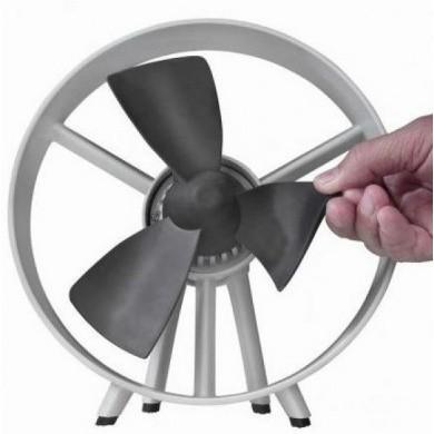 Safe Blade Fan - Rubber Bladed Desktop Cooling Fan Ø 20cm