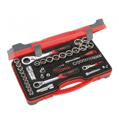 SAM CP-77Z Ratchet Wrenches and Sockets in a Suitcase