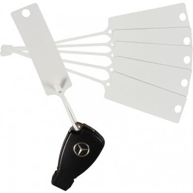 MULTI Transparent Key Labels per 100 pieces