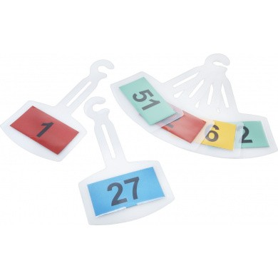 Numbered Hangers for Rear-view Mirror