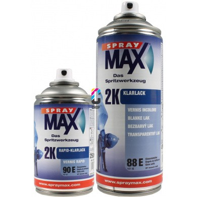 2K Hoogglans Blanke Lak in Spuitbus Spraymax - 250ml & 400ml - High Solid