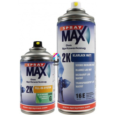 2K Matte Klarlack in Sprühdose SPRAYMAX Auto-K * SUPER HIGH SOLID * 250ml + 400ml