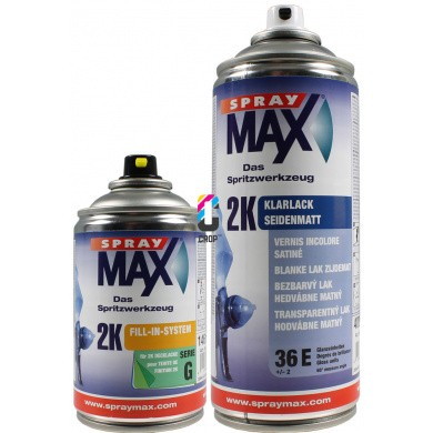 2K Seidenglänzende Klarlack in Sprühdose SPRAYMAX Auto-K * SUPER HIGH SOLID * 250ml + 400ml