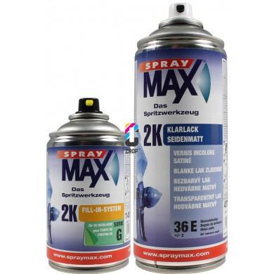 2K Blanke Lak Zijdeglans in spuitbus SprayMax 250ml & 400ml
