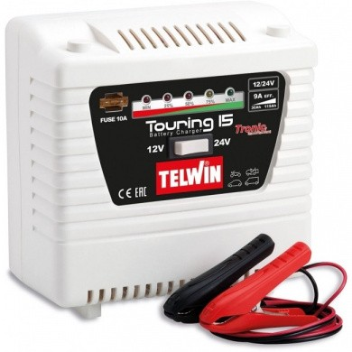TELWIN TOURING 15 Draagbare electrische acculader