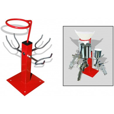 Spray Gun Holders Tablemodel with Paint Strainer Holder