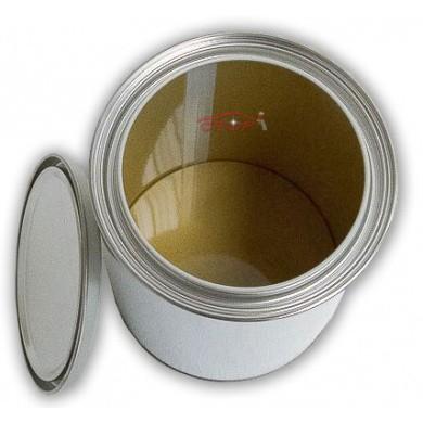 Leeg Verfblik 1 liter + Deksel *GECOAT* voor watergedragen lakken