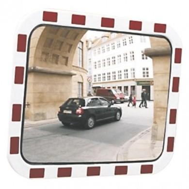 Verkehrssicherheitsspiegel 600x800mm Schlagfestes Polycarbonat 30 Meter Blickfeld Rechteckiges Modell