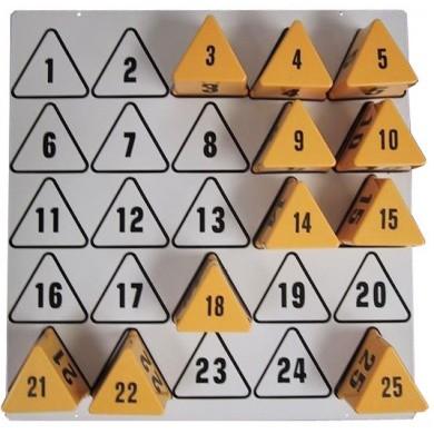 Wandplaat voor 25 nummerblokken