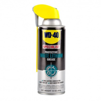 WD-40 Specialist High-Quality White Lithium Grease in 400ml Aerosol