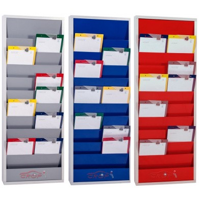 Werkorder planbord METAAL met 2 rijen en 10 sleuven - 3 kleuren