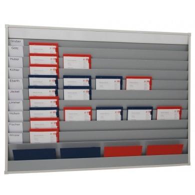 Werkorder planbord met 5 rijen, 10 sleuven en opbergvak voor individuele etikettering