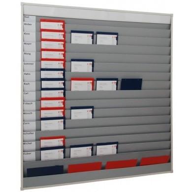Werkorder planbord met 5 rijen, 15 sleuven en opbergvak voor individuele etikettering