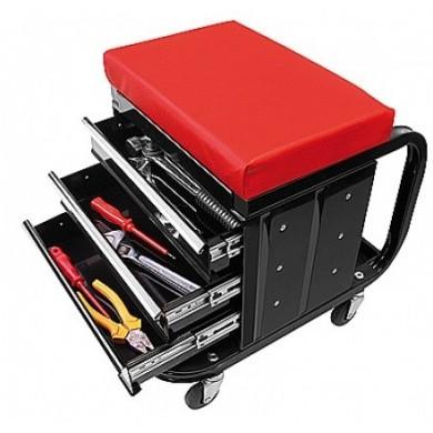 Werkplaatsstoel verrijdbaar met gereedschapskist 3 laden