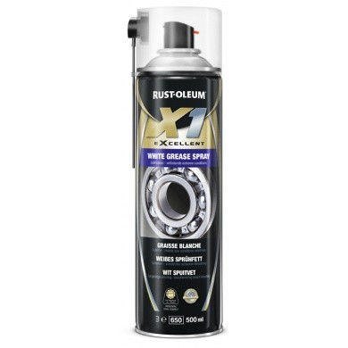 Rust-Oleum X1 White Grease Spray - Wit Spuitvet