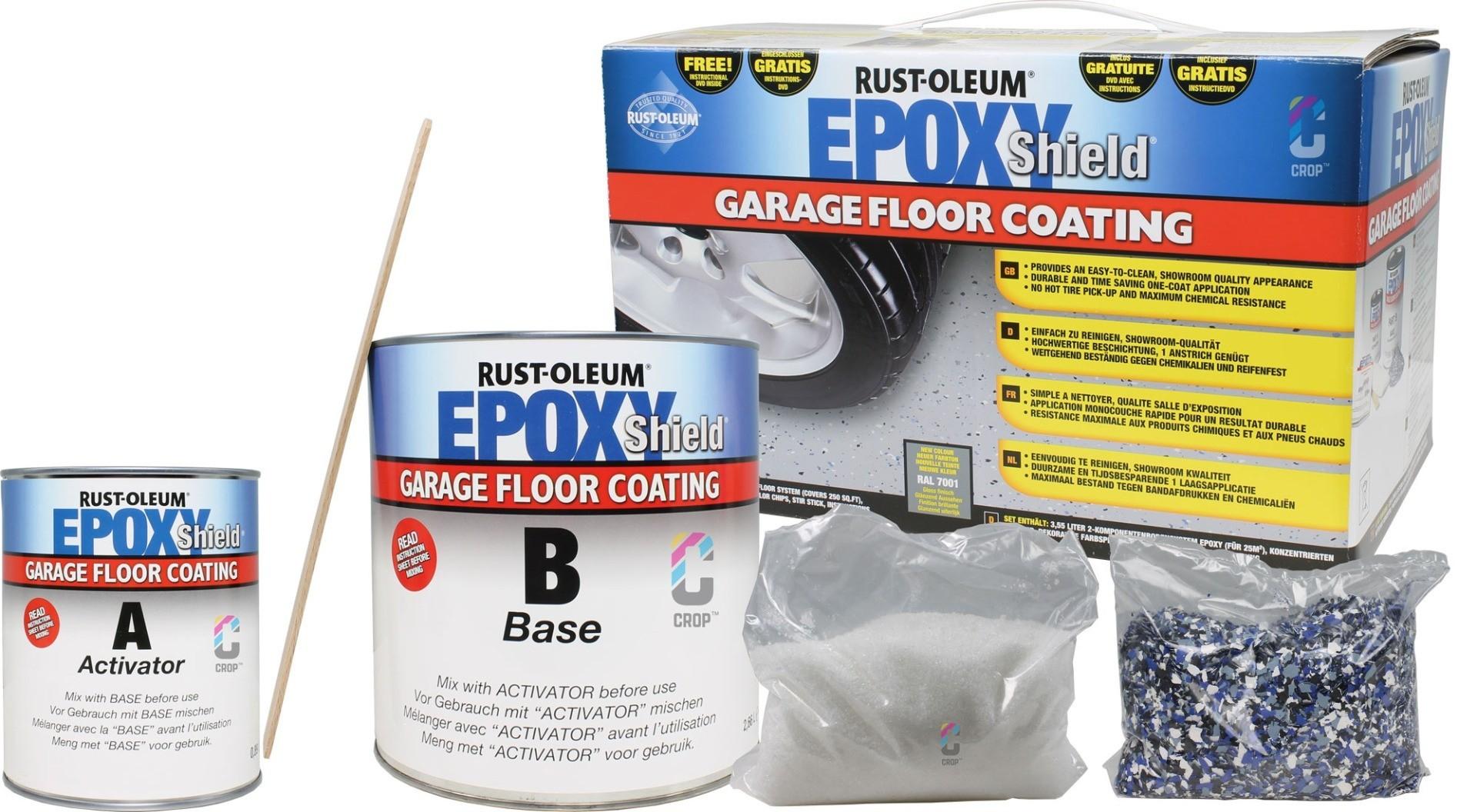 Rust Oleum Epoxyshield Garage Floor Coating Grey